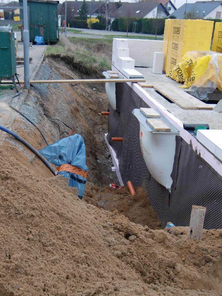 Abwasser- und Bauwasseranschluß