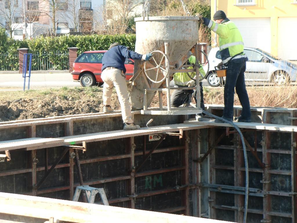 Kellerwände betonieren
